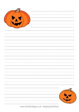 halloween writing paper pumpkins printables  halloween writing paper pumpkins