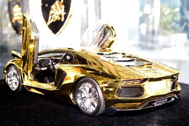 Gold Lamborghini Aventador Up For Sale Pimped Out Cars Gold
