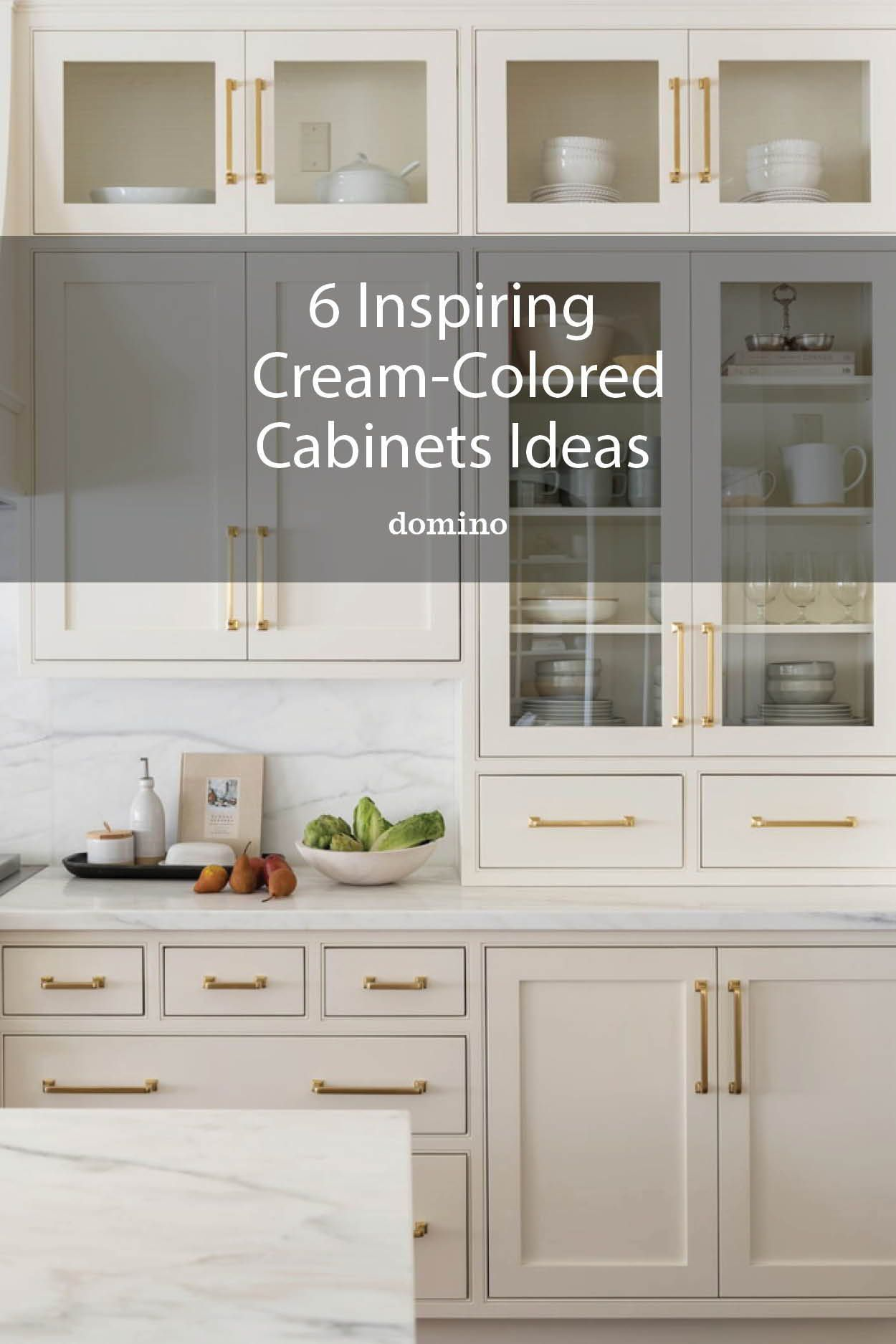 6 Cream Kitchen Cabinets to Help You Think Beyond All-White
