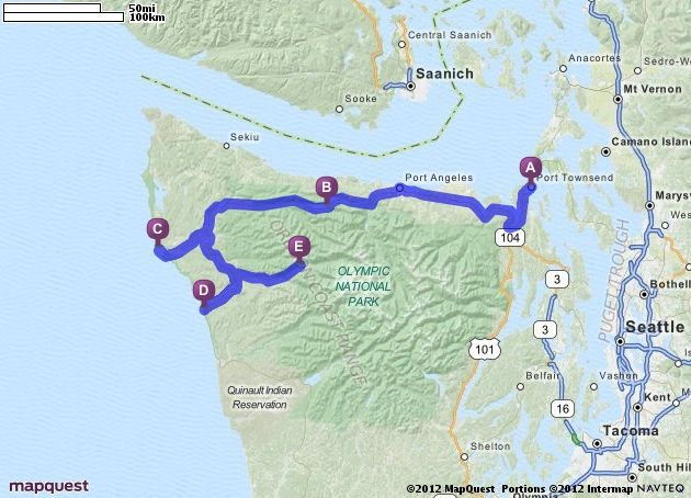 Driving Directions From Port Townsend Washington To Hoh Rain Forest