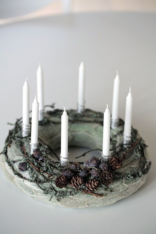 Advent Wreath Holiday Wreath Christmas Wreath by CadeauDeLaNature