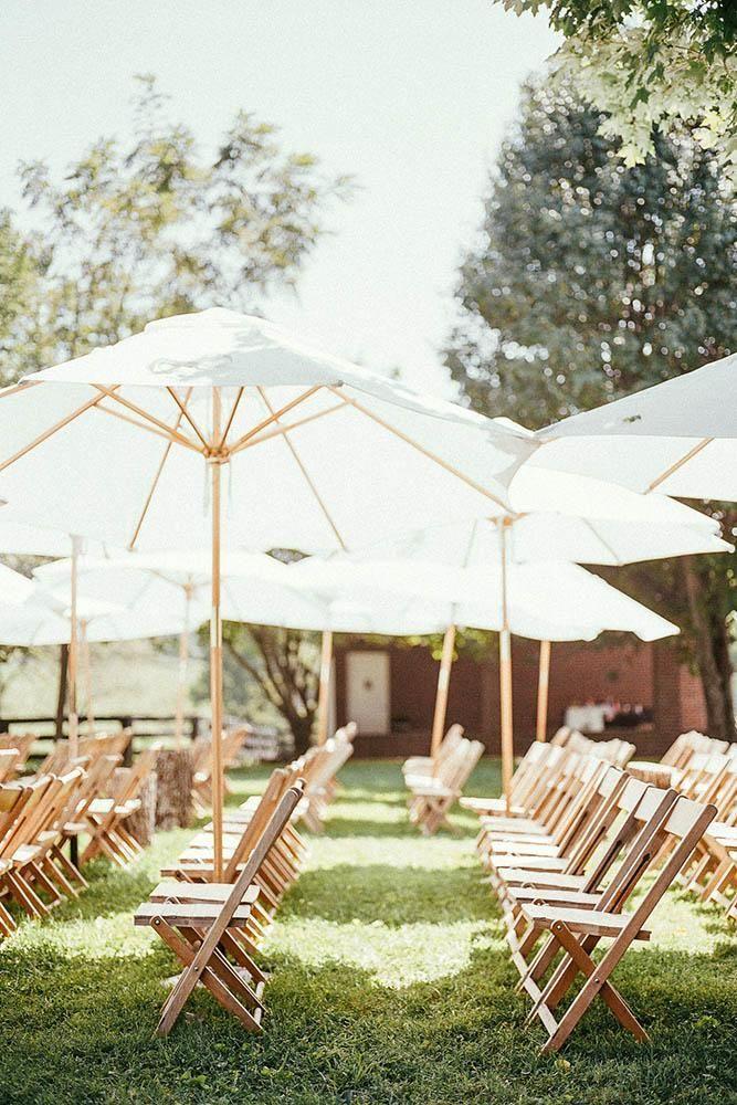 huwelijksceremonie decoraties zomer bruiloft gangpad parasols hayes foto huis …