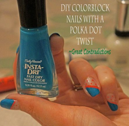 fun colorblock nail art creation! | Nails | Pinterest | Sally hansen ...