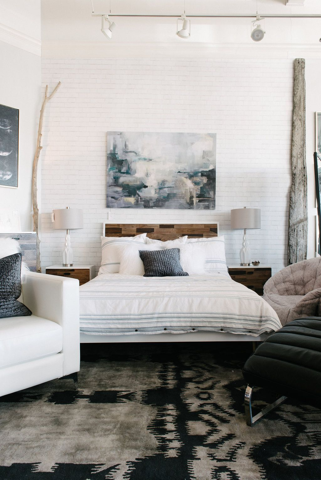 This is what happens when a modern bohemian bedroom meets global