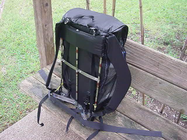 make your own gear ultra light external frame pack backpackinglightcom