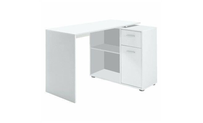 Bureau d angle honor tiroir porte blanc  cm