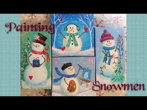 Easy Snowman Ornaments | Acrylic Painting Tutorial | Free ...