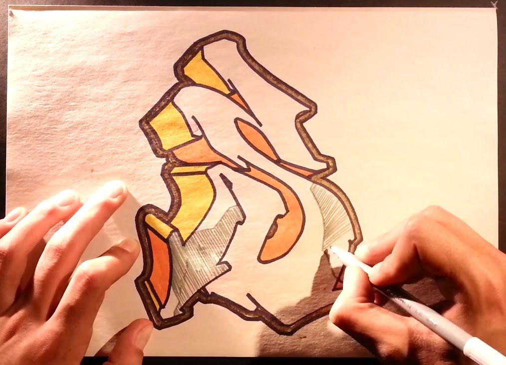 Como Dibujar Graffitis 3d Como Hacer Letras 3d De Tatuajes Hd