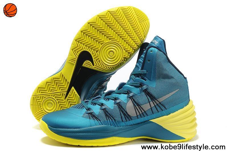 Nike Hyperdunk 2013 XDR Tropical Teal/Sonic Yellow Basketball ShoesCheap Nike Free Run 60