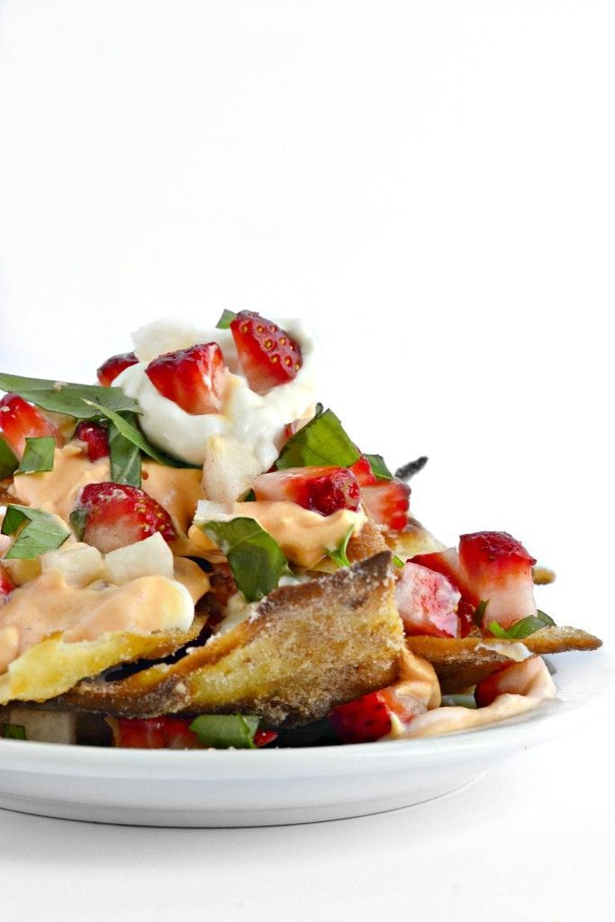 Dessert Nachos - a FUN idea to serve for April Fool's Day  (gluten free and vegan)
