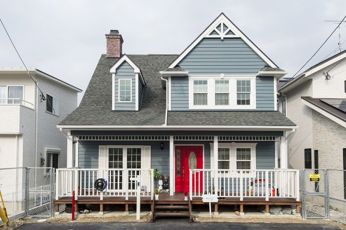 ブルースホーム福岡中央 北九州が手がけた輸入住宅の施工事例をご紹介 輸入住宅 住宅 外観 モデル住宅