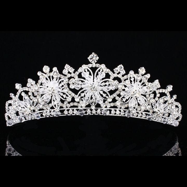 Bridal Snowflake Rhinestone Crystal Prom Wedding Crown Tiara 7914 | eBay
