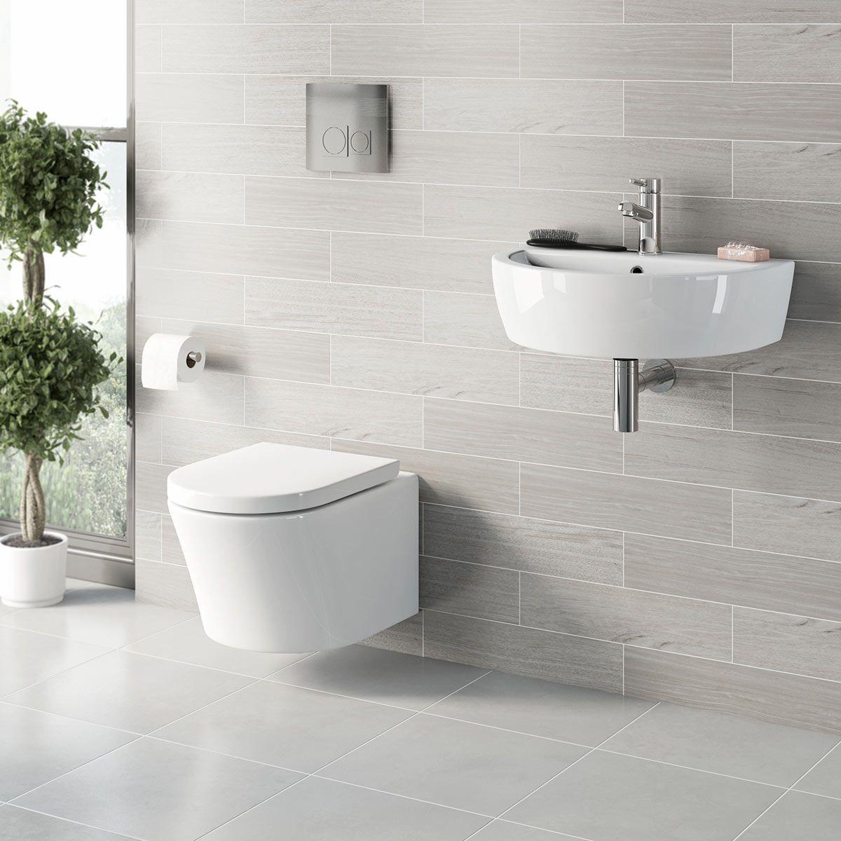 Wall Hanging Toilet frontline metro wall hung toilet & basin suite | hlíðarvegur