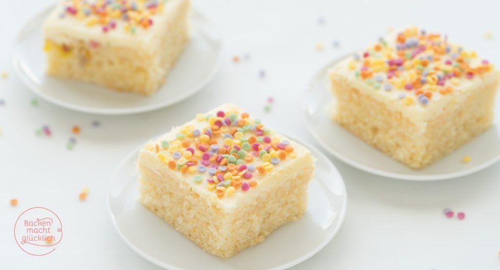 Konfetti-Kuchen vom Blech | Backen macht glücklich