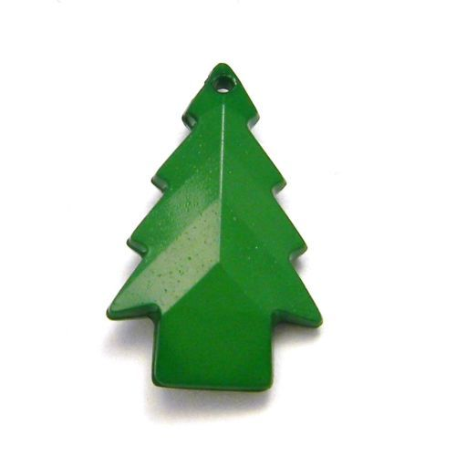 Lot-of-20-Opaque-Green-24mm-Faceted-Plastic-Acrylic-Christmas-Tree ...
