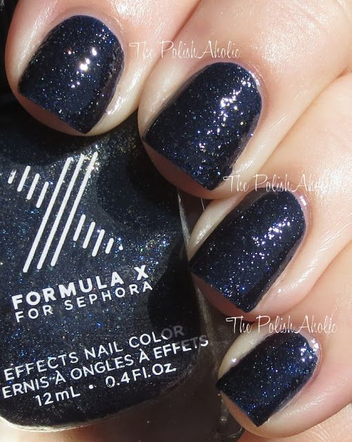 Sephora Formula X - Galaxy w/topcoat. Not generally a fan of sparkly ...