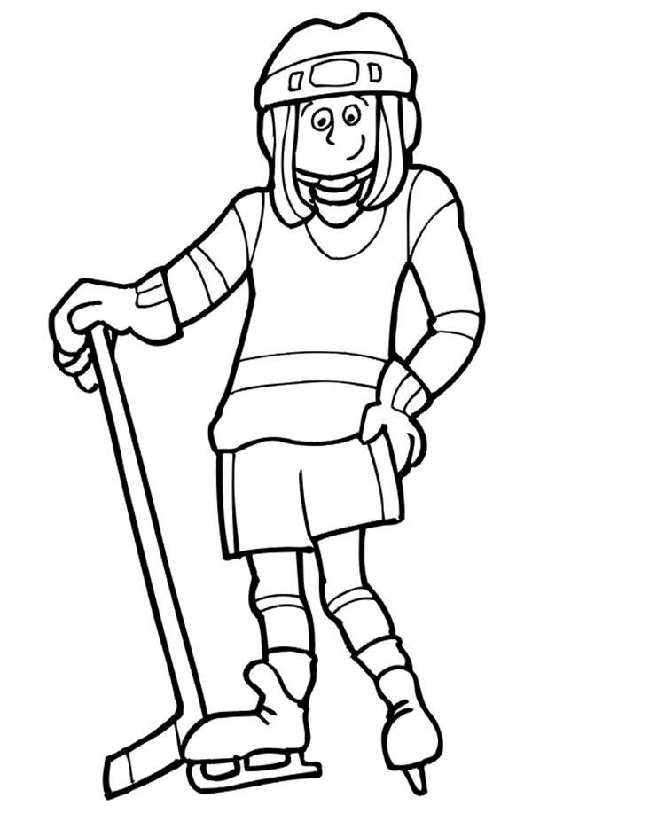 Free Hockey Coloring Pages Coloring Pages Hockey Girls Hockey