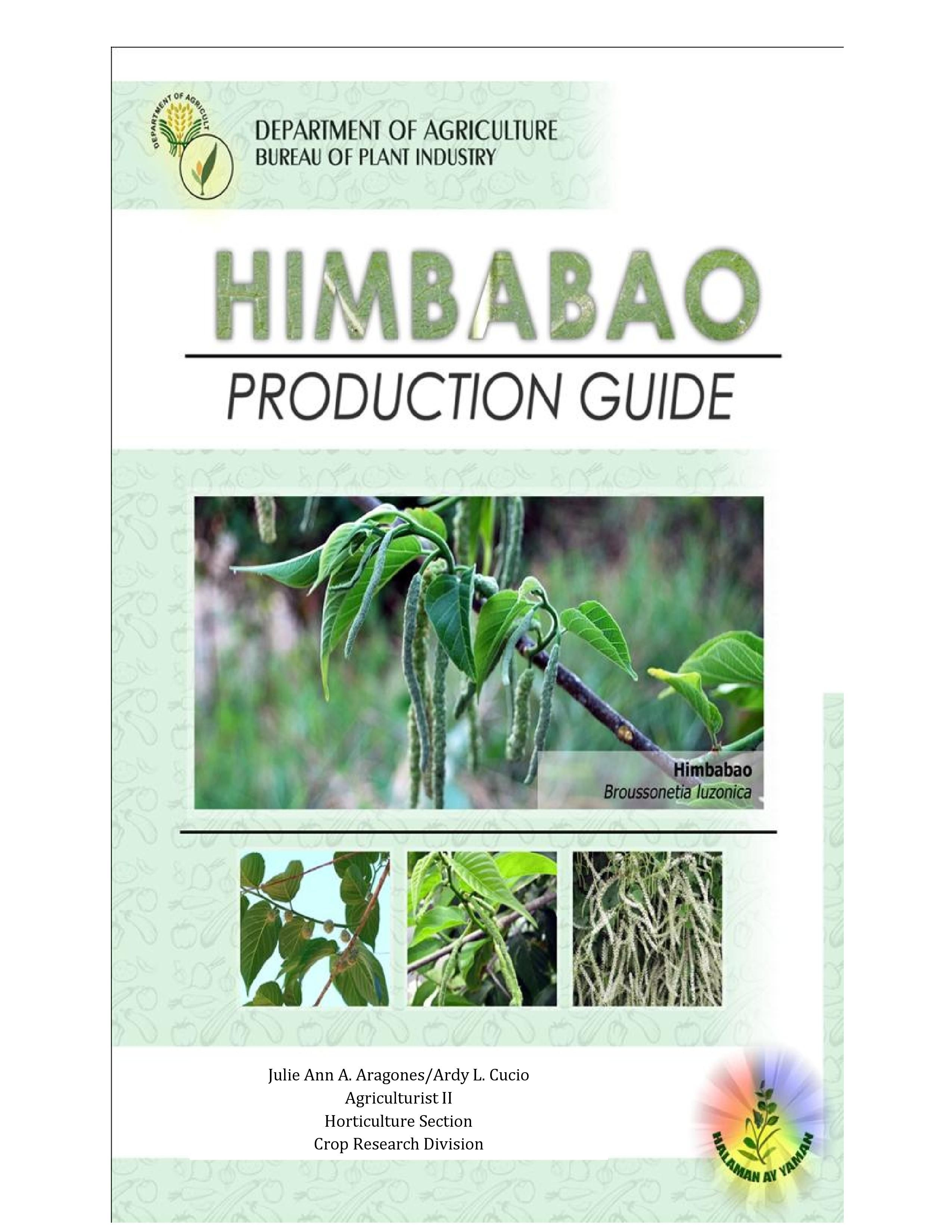 Himbabao Production Guide https://www.facebook.com/MyriadFarms1