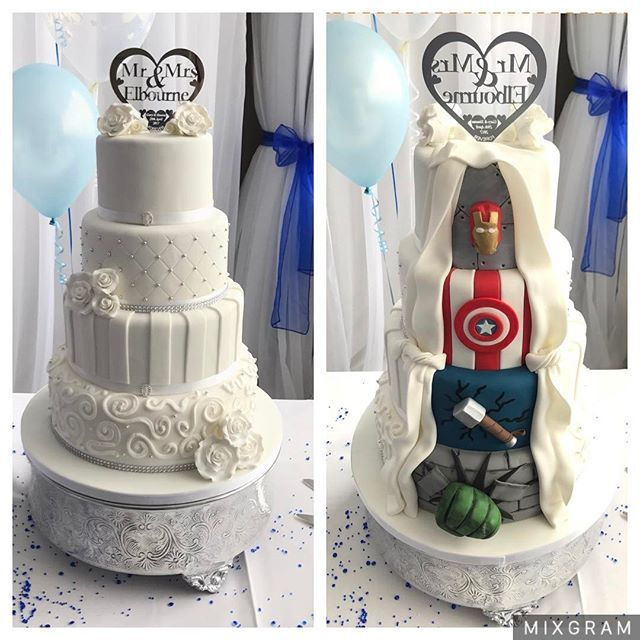 I would do Spider-Man instead of Thor, jus saying for me #birthday cake #cake decorating #cake recipes #hochzeit kuchen #jus #kuchen kindergeburtstag #Spiderman #Thor #wedding cakes #wedding ideas