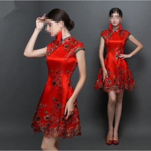 Women Ball Gown Formal Evening Chinese Vogue Casual Cheongsam Bridal ...