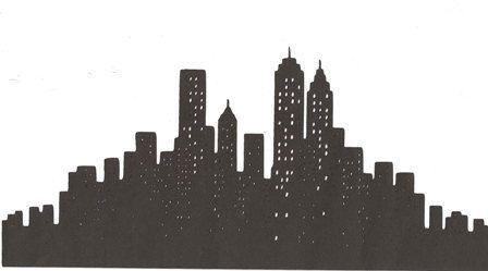 city skyline outline simple - photo #29