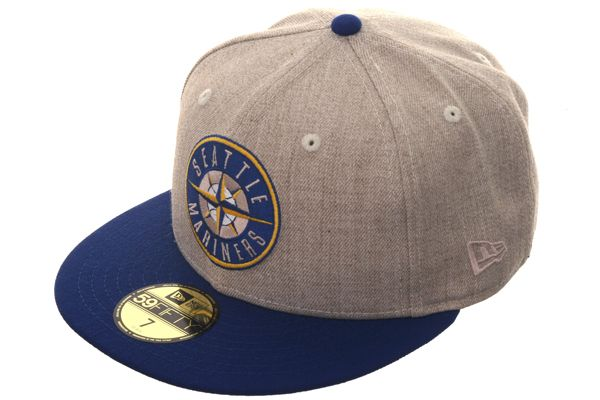 1a5aa963831 Hat Club Original New Era 59Fifty Seattle Mariners Patch Fitted Hat - 2T  Oatmeal Heather