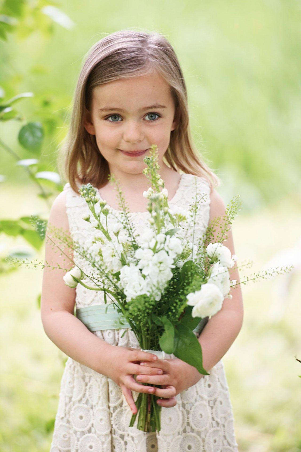 Wedding bouquet ideas bridesmagazine flower girl bouquet cute flower girl bouquet with rustic wild flowers izmirmasajfo