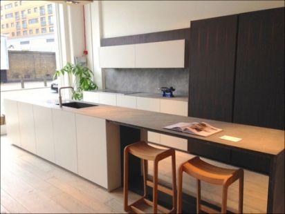 Ex Display TM Italia Pure White and Ebony Handless Kitchen, Island ...