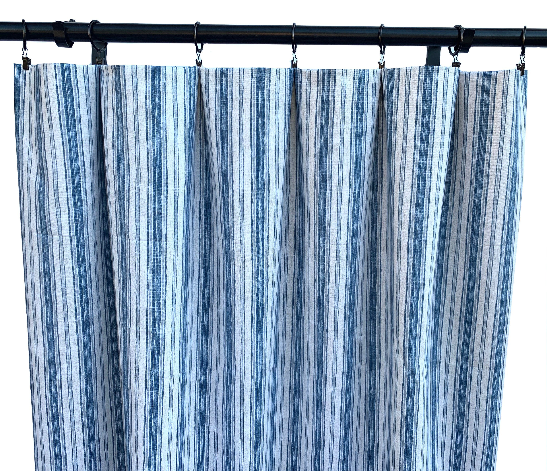 Magnolia Home Curtains Blue Striped Curtains 2 Curtain Panels