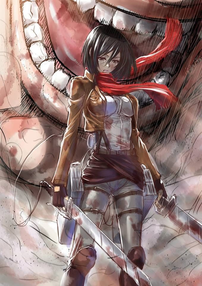The warrior on the battlefield | Attack on titan anime ...