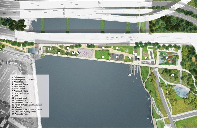11th Street Bridge Park, Washington, 2014 - OMA - Office for Metropolitan Architecture, OLIN Design