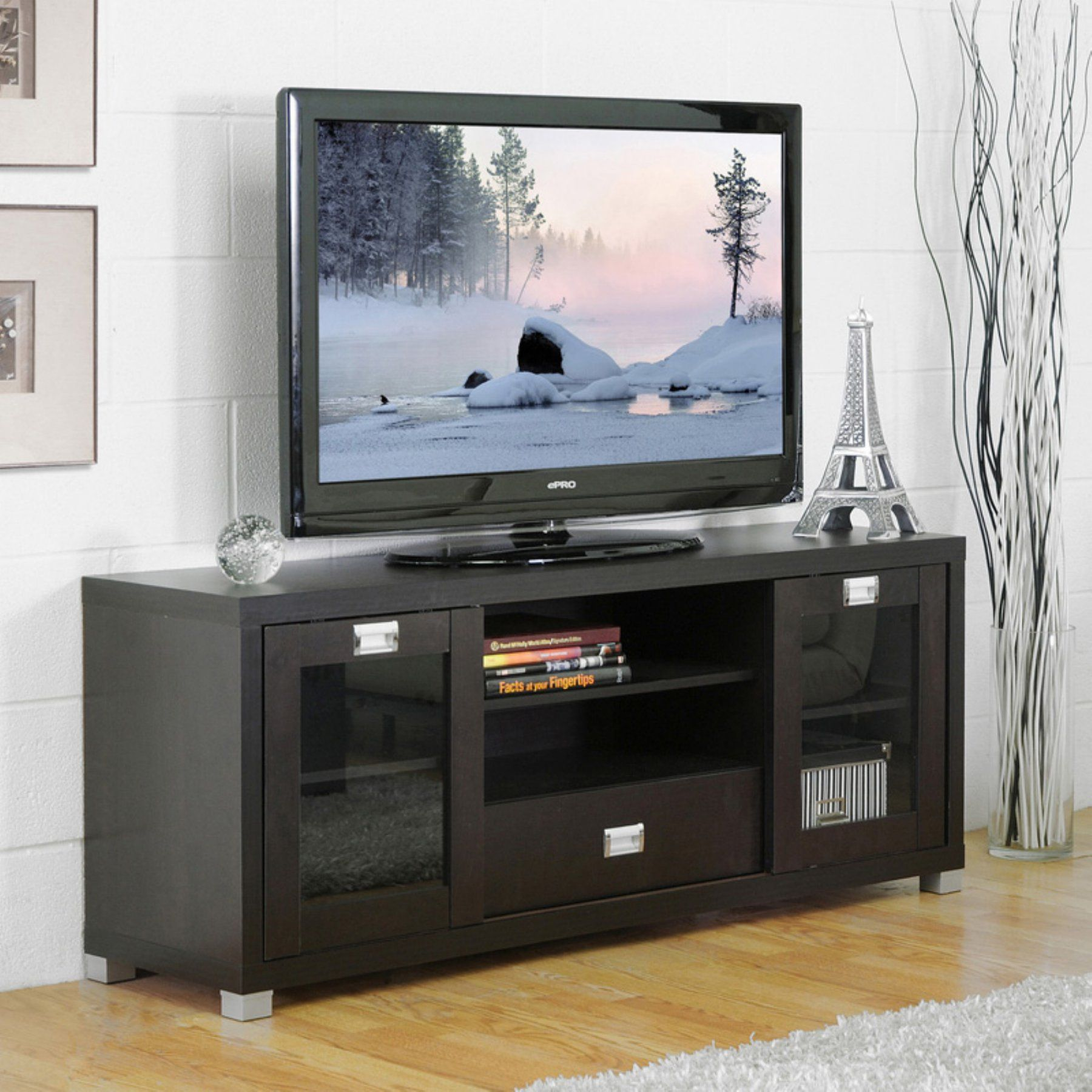 Baxton Studio Matlock Tv Stand Ftv 886 Tv Stand With Glass