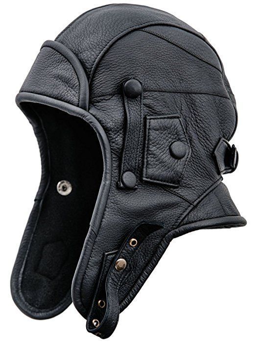58366f682 Sterkowski Genuine Leather Men's Aviator Trapper Cap with Mask and ...