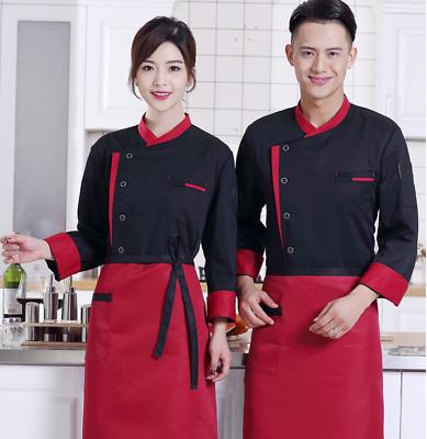 Chef stretch denim restaurant  hotel  uniform chef overalls jacket clothing