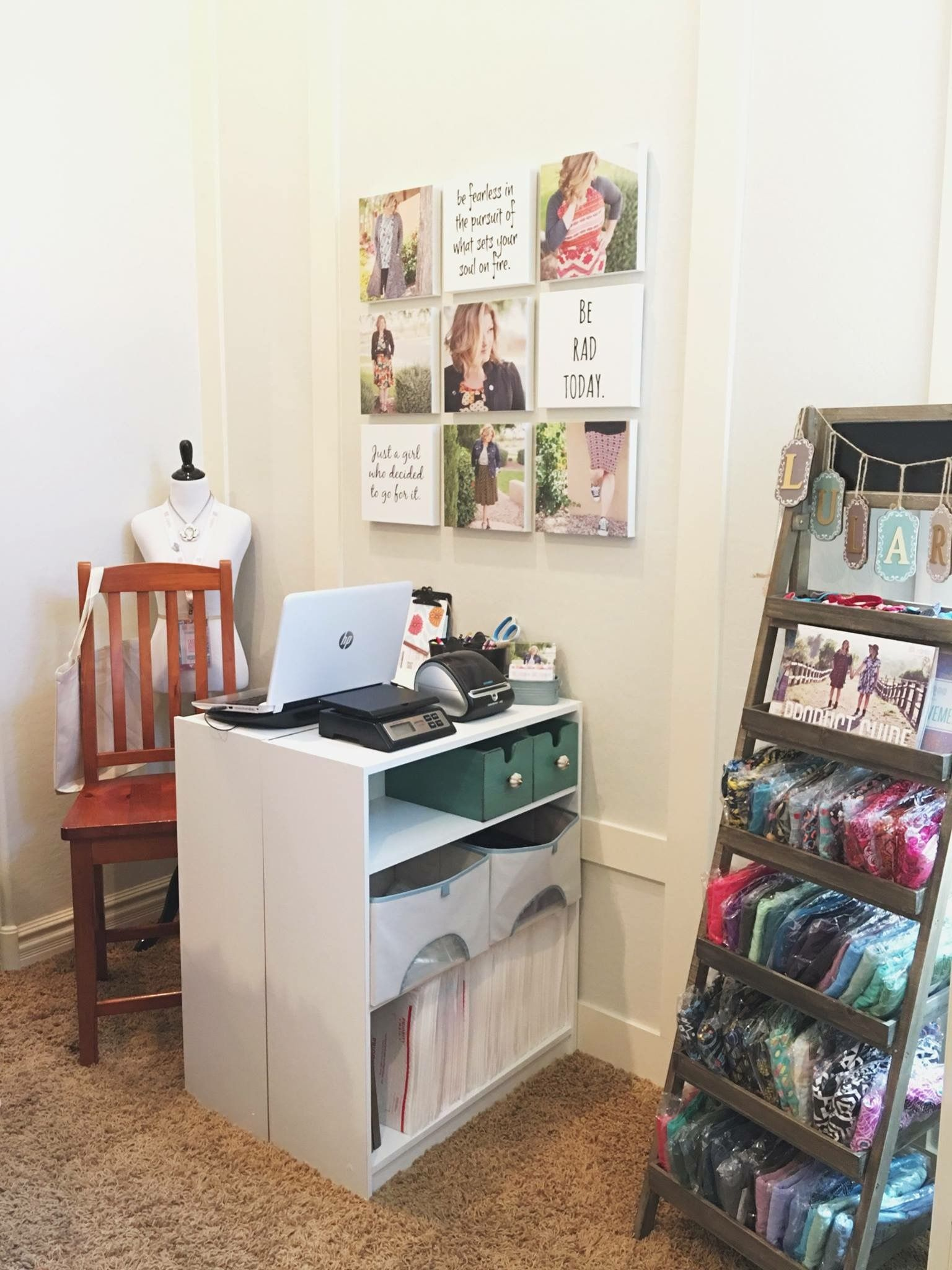 Cute tiny office space