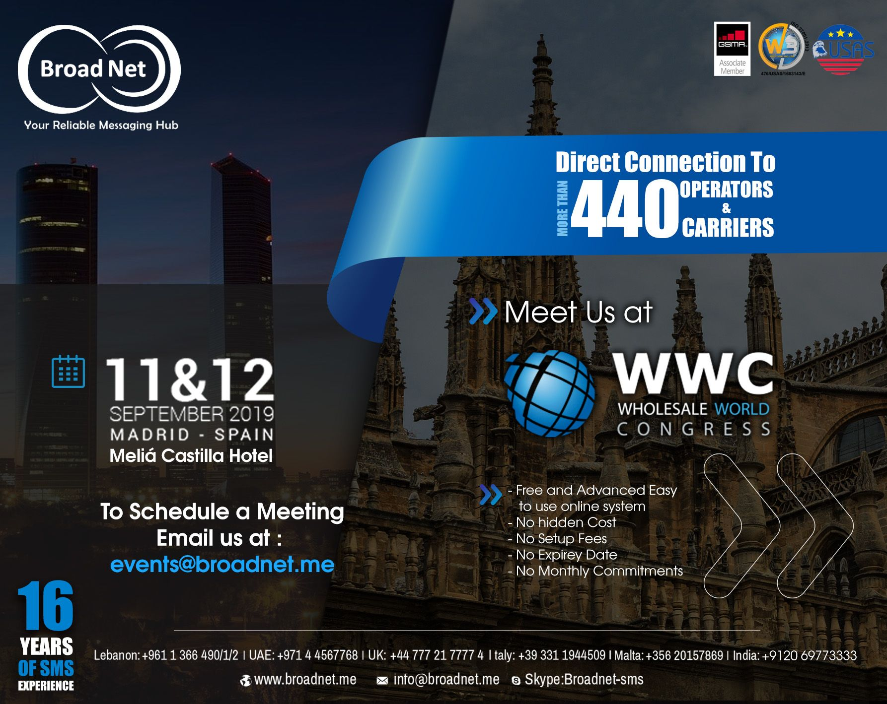 Meet us at wwc wholesale world congress Madrid To