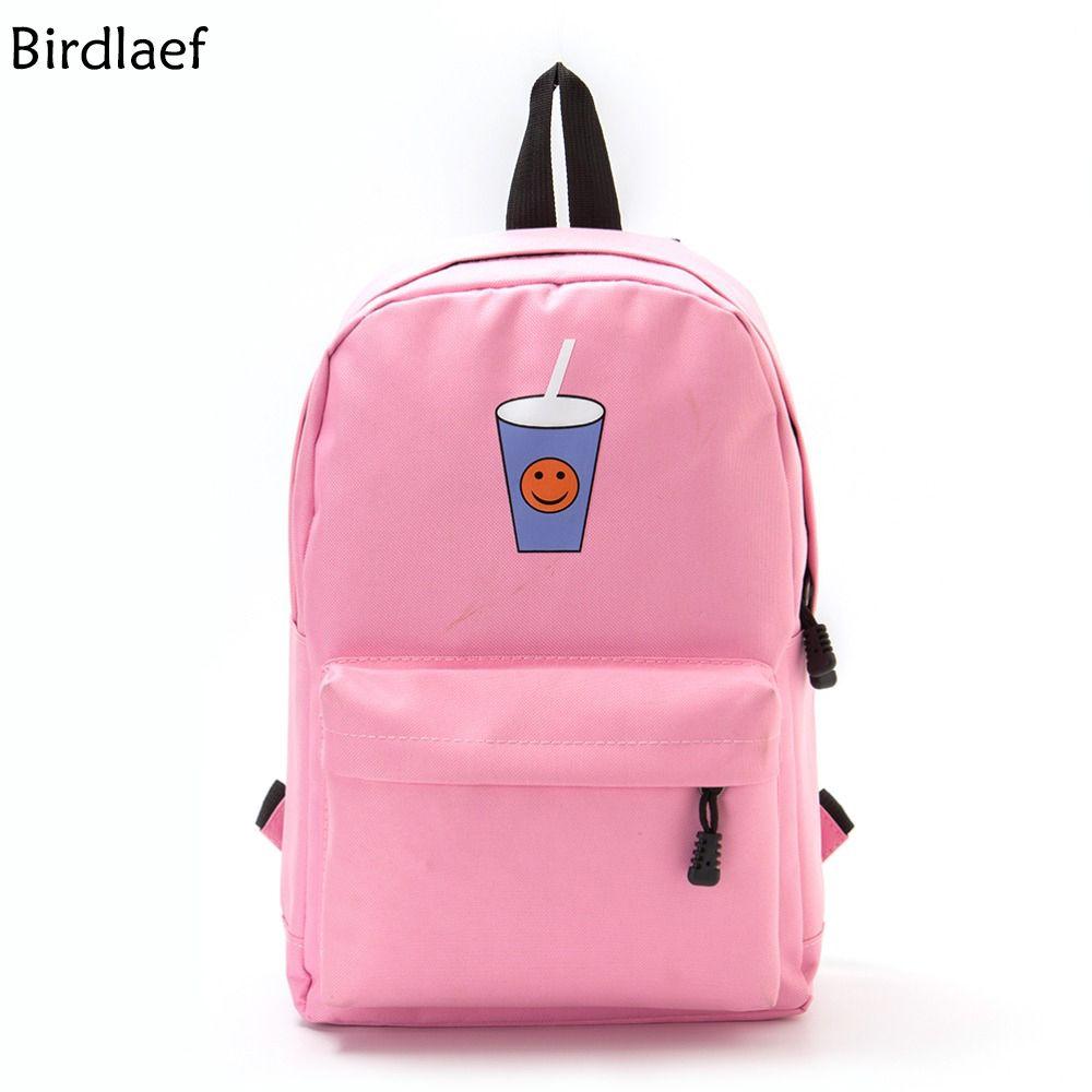 Pink Large Capacity Backpack Women Preppy