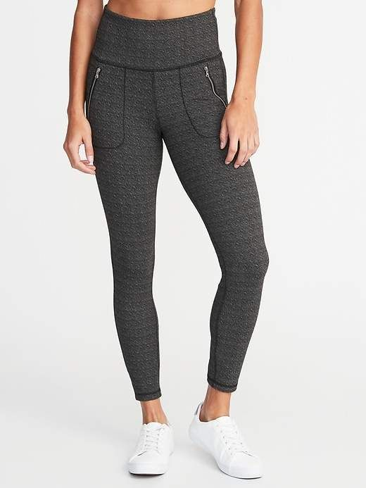 f48c324ca0f228 High-Rise Zip-Pocket 7/8-Length Street Leggings For Women in 2019 ...