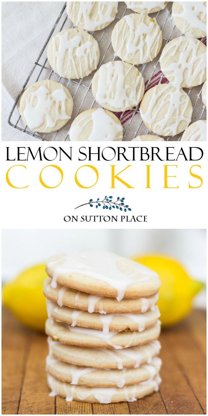 Lemon Shortbread Cookies Easy Recipe - On Sutton Place
