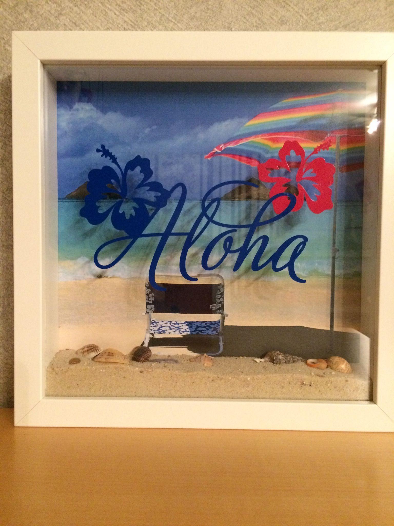 aloha - strand im ribba-rahmen mit echtem sand und muscheln | eigene