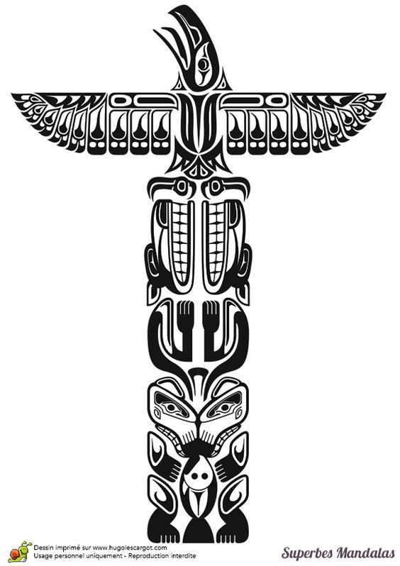 7c73244d528bd8913584a2ad0354ce78 Jpg 564 798 Totem Tattoo Native Art Totem Pole Tattoo