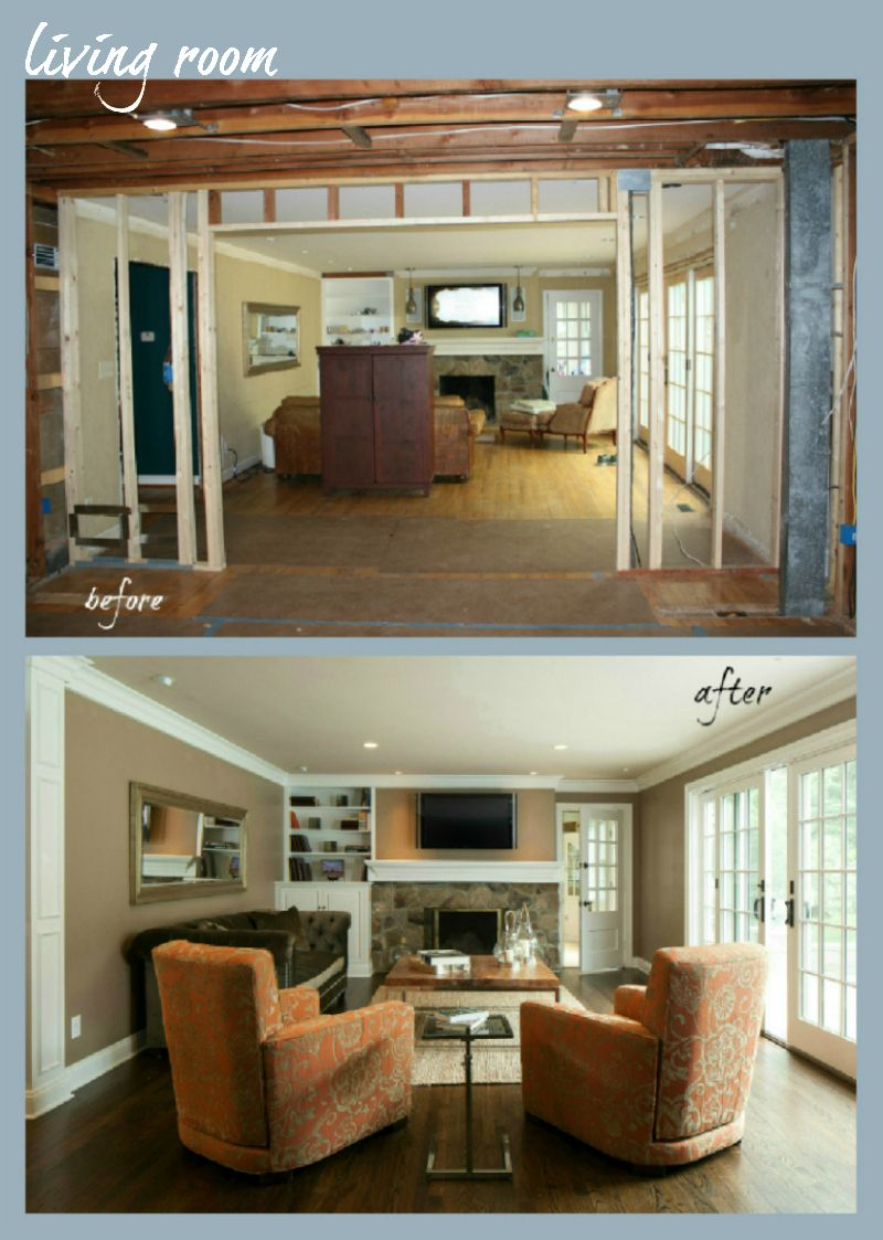 Living Room Renovation Before And After before and after house remodels | house remodeling before and