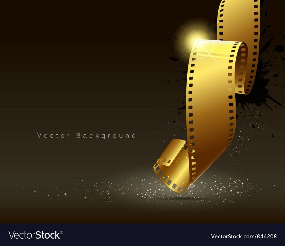 Camera Film Roll Gold Color Vector Image On Color Vector Rolled Gold Film Roll