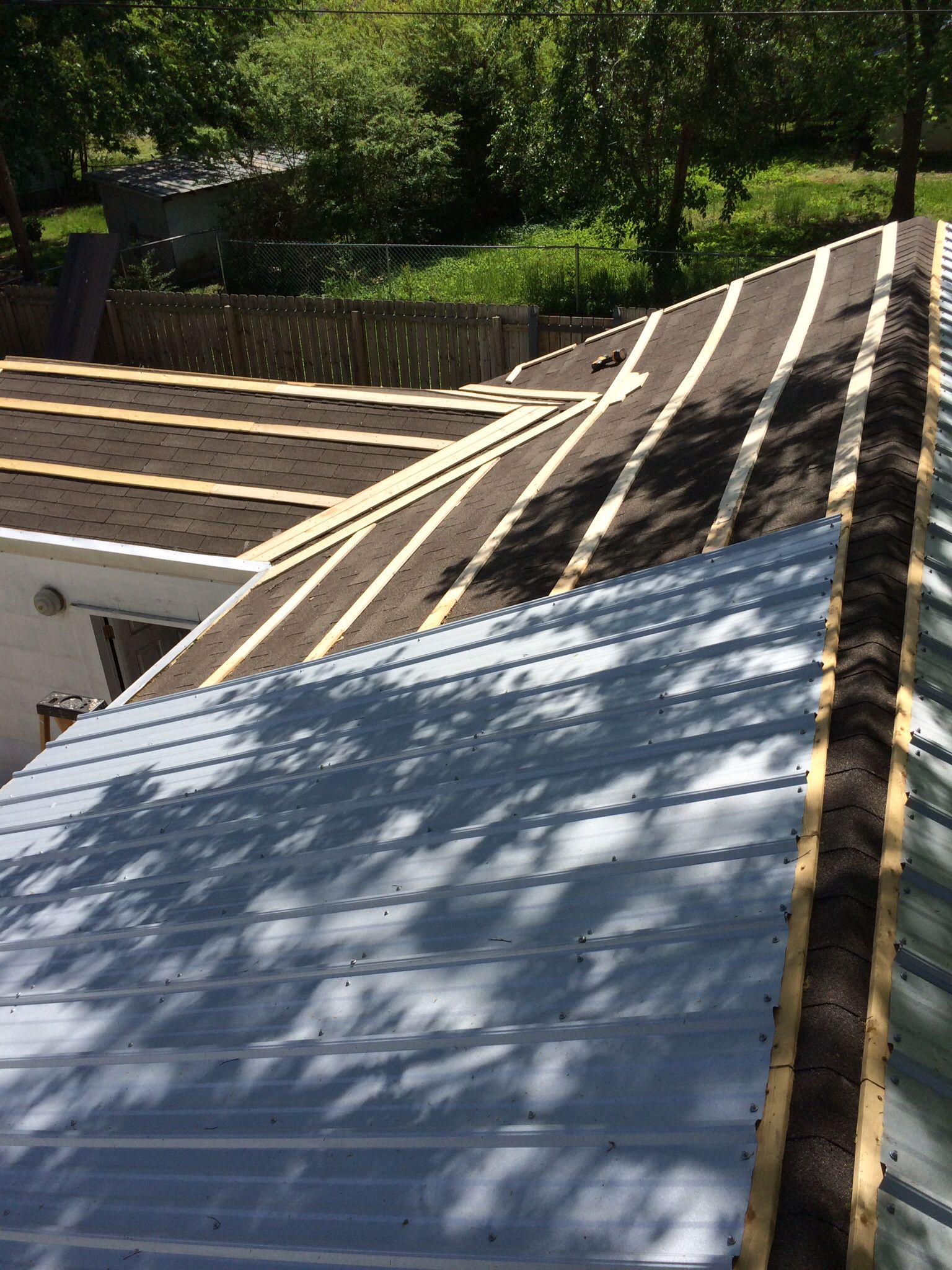 Finishing Up Furring Strips Metal Roof Galvalume
