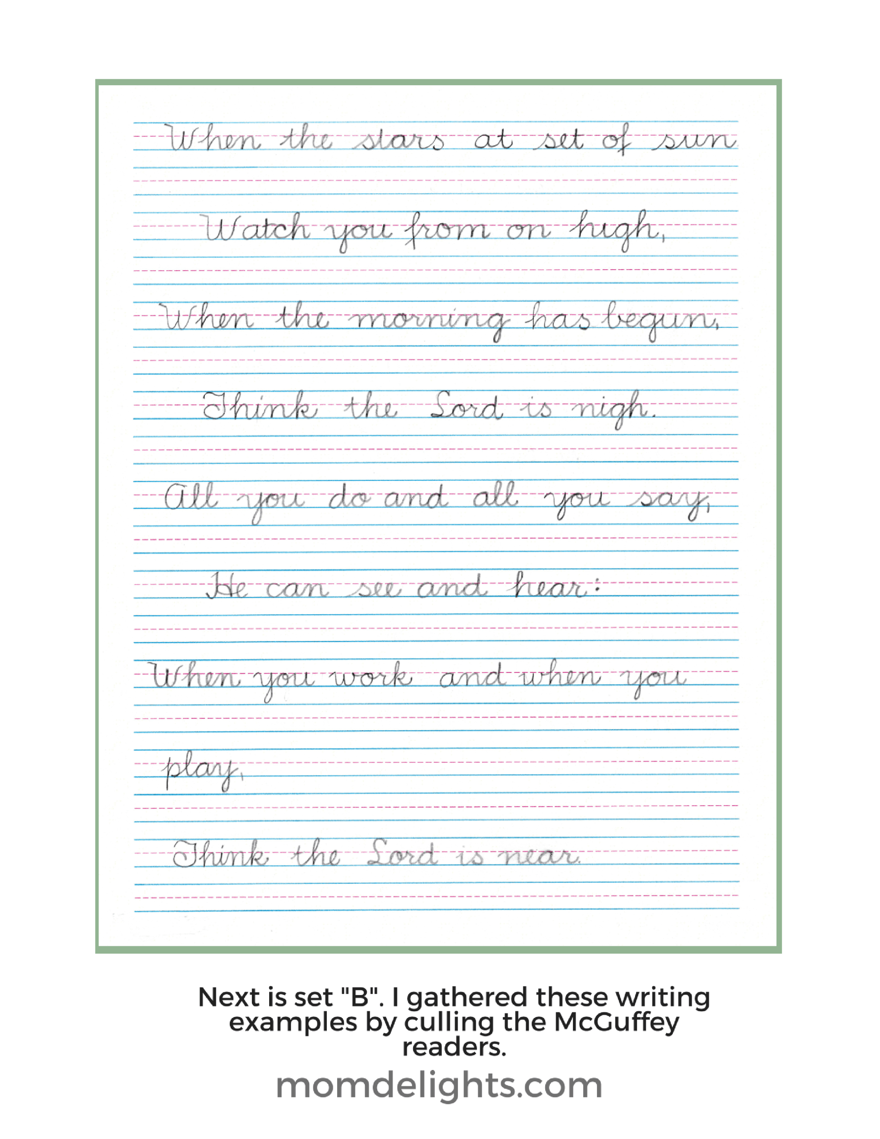 How To Create Your Own Amazingly Simple Cursive Program Mom Delights Handwriting Instruction Education Help Preschool Letters [ 2310 x 1785 Pixel ]