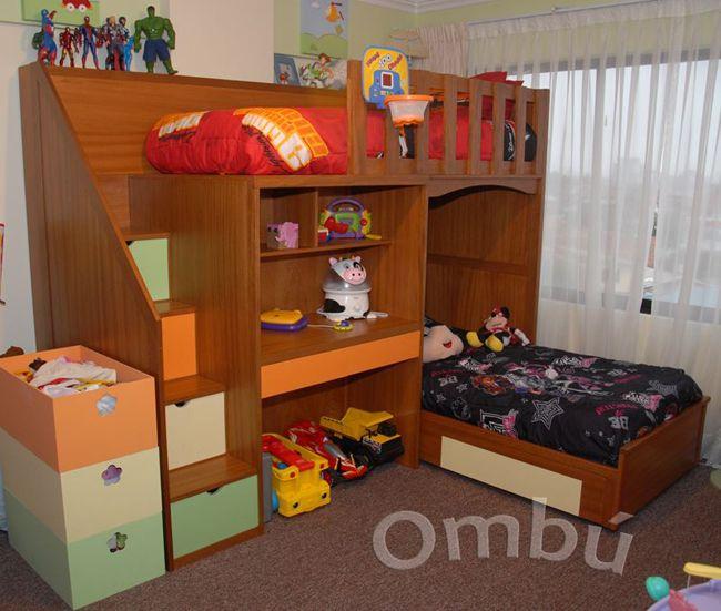 Cama de dos pisos con escritorio google search camas for Cama para dos