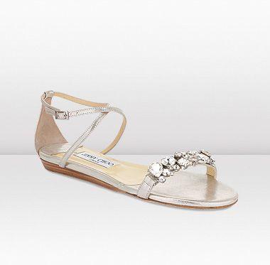 eff5811979c8 Jimmy Choo | Lark | Shimmer Suede Flat Sandals | JIMMYCHOO.COM ...