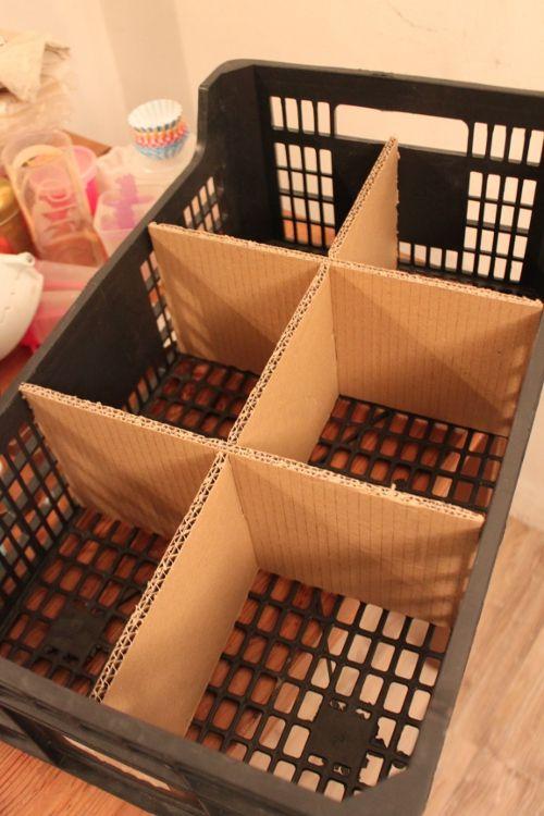 Recup Cagette En Plastique Et Compartiments En Carton Avec Images Cagette Plastique Dyi Maison