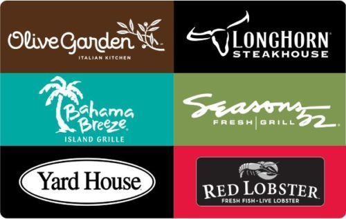 Darden Restaurants Gift Card 25 50 100 Email Delivery Us