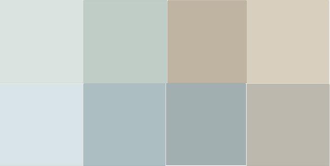 Paint Color Scheme Sw Colors Topsail Copen Blue Balanced Beige Grecian Ivory Iceberg Rain Breezy Mindful Grey